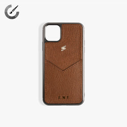 iPhone 11 Case Corteccia Card Brown