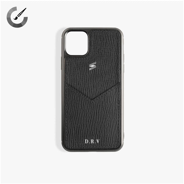 iPhone 11 Pro Max Case Corteccia Card Black