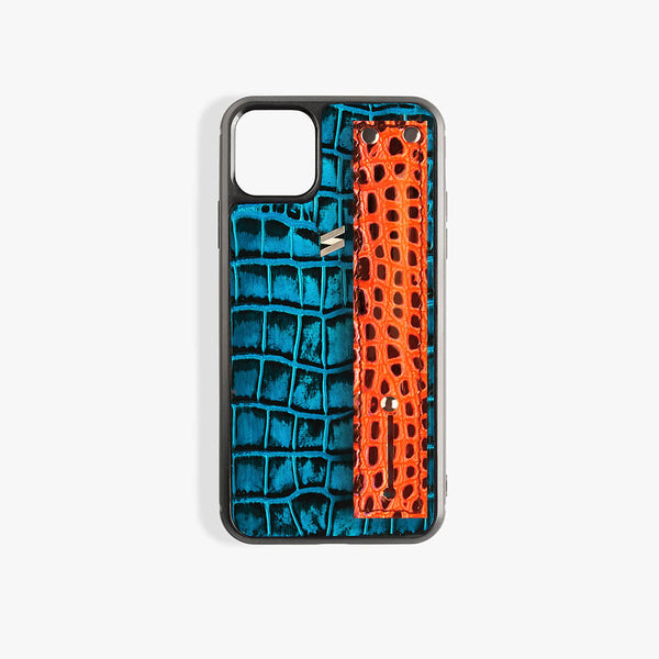 iPhone 11 Pro Max Case Benny Strap Blue