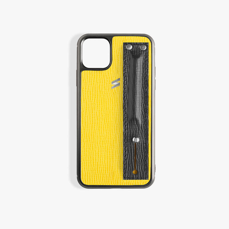 iPhone 11 Pro Max Case Corteccia Strap Yellow