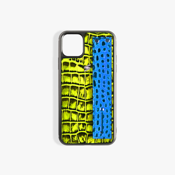 Coque iPhone 11 Benny Strap Yellow