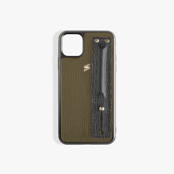 iPhone 11 Hoesje Corteccia Strap Green