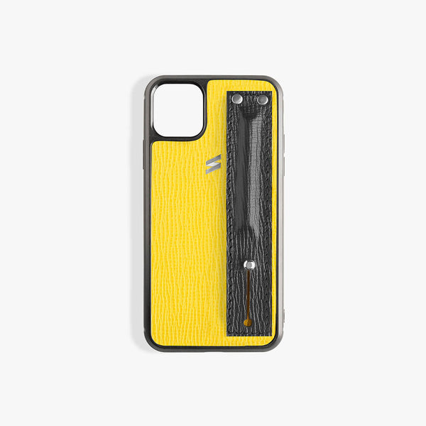 iPhone 11 Hoesje Corteccia Strap Yellow