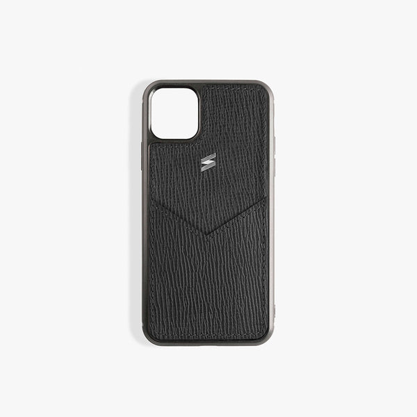 iPhone 11 Pro Hoesje Corteccia Card Black