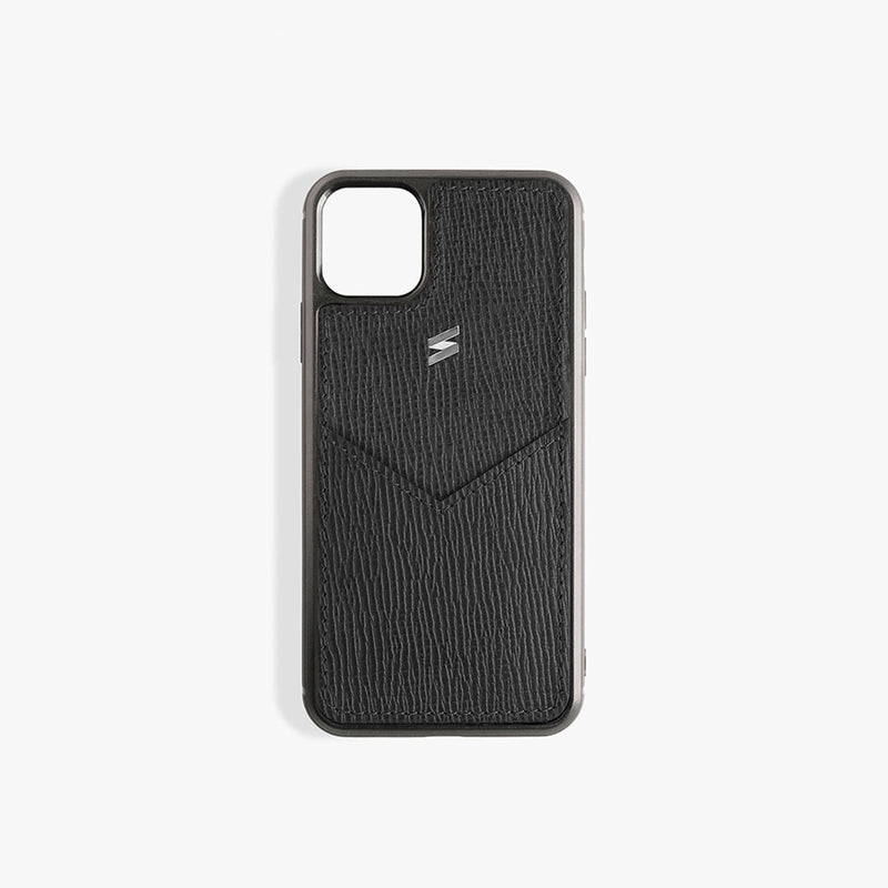 iPhone 11 Pro Case Corteccia Card Black