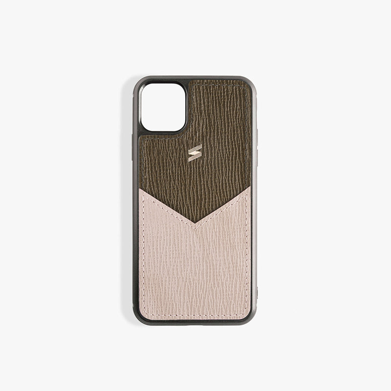 iPhone 11 Pro Hoesje Corteccia Card Green