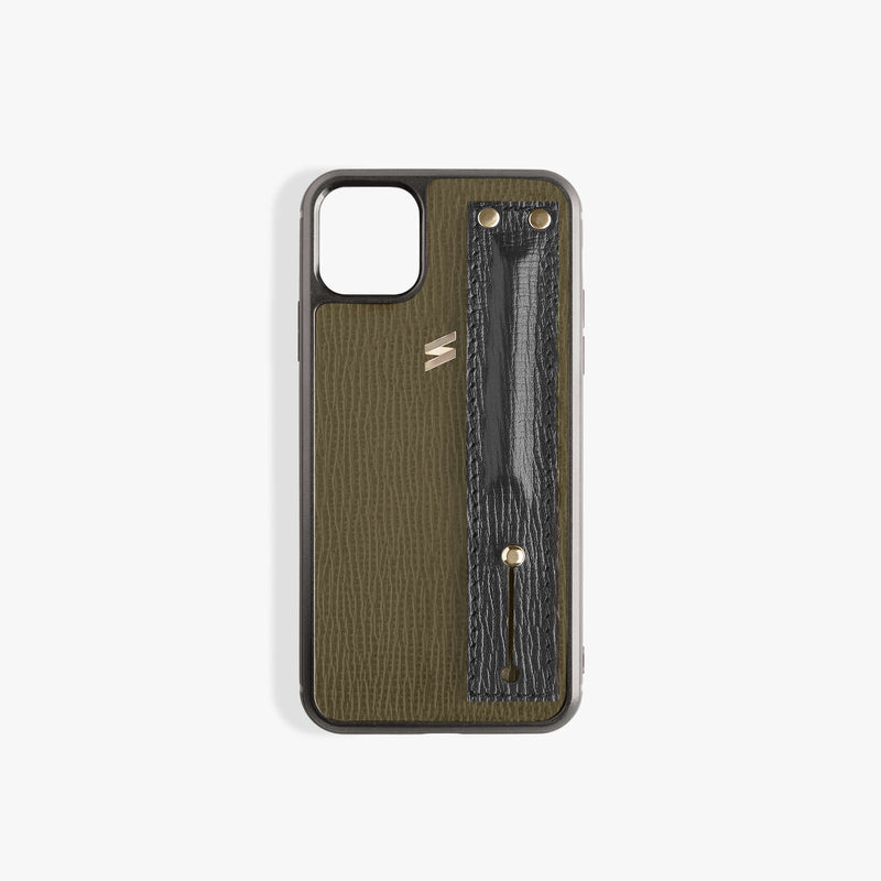 iPhone 11 Pro Case Corteccia Strap Green