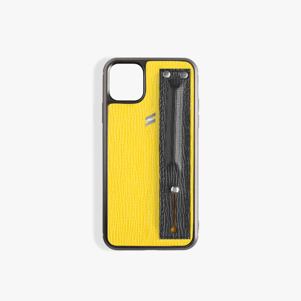 iPhone 11 Pro Hoesje Corteccia Strap Yellow
