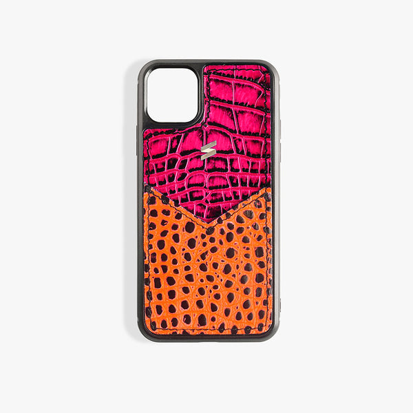 Coque iPhone 11 Pro Max Benny Card Fuscia