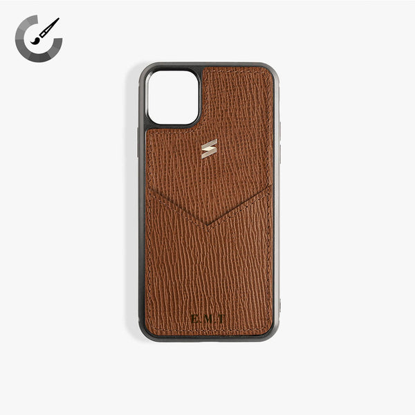 iPhone 11 Pro Max Hoesje Corteccia Card Brown