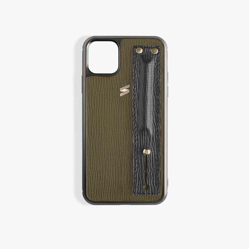 Funda iPhone 11 Pro Max Corteccia Strap Green