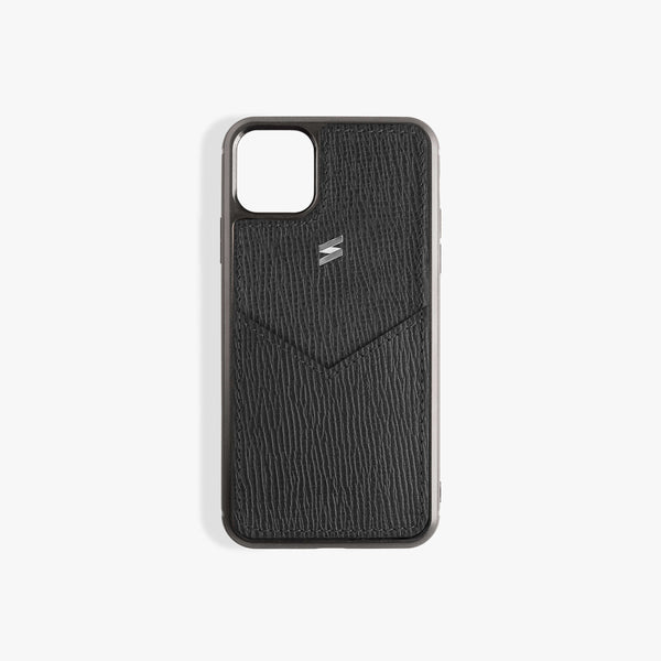 iPhone 11 Case Corteccia Card Black