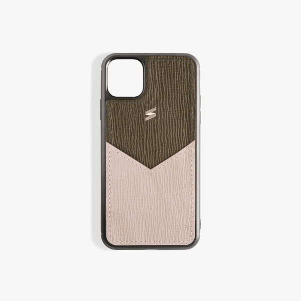 Coque iPhone 11 Corteccia Card Green