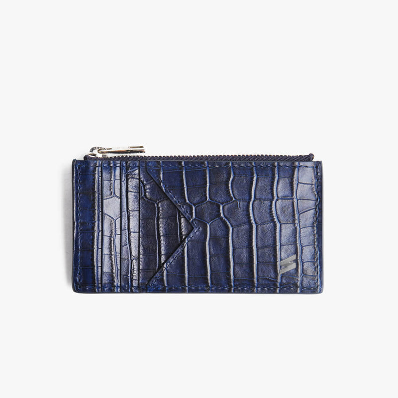 Zipped Card Holder Sidney Blue