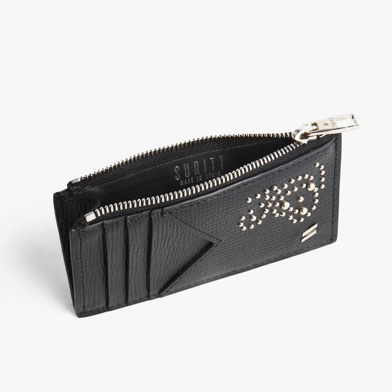 Zipped Card Holder Kate Black