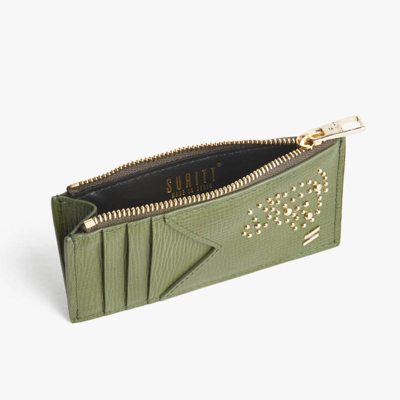 Zipped Card Holder Kate Green