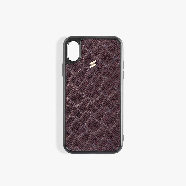 Coque iPhone Xs Paris Burgundy