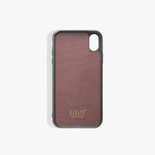 Coque iPhone X Paris Burgundy