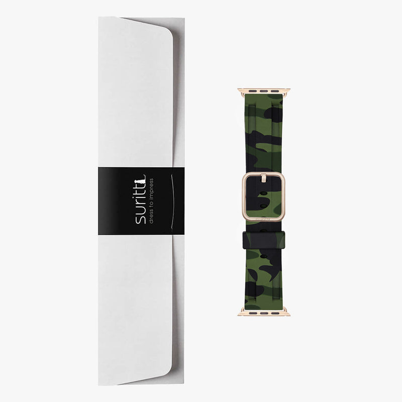Apple Watch Sport Band Green Camo