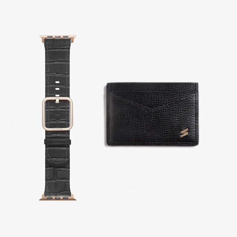 Gift Pack Band + Card Holder Black