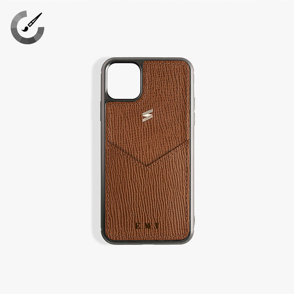 iPhone 11 Pro Hoesje Corteccia Card Brown