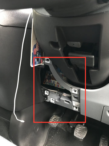 transit custom footwell installation car enhancements uk ford focus fuse box diagram remove the cover to your fuse box, this is located under the steering wheel and is the left side panel gently, but firmly pull the cover from the fuse box