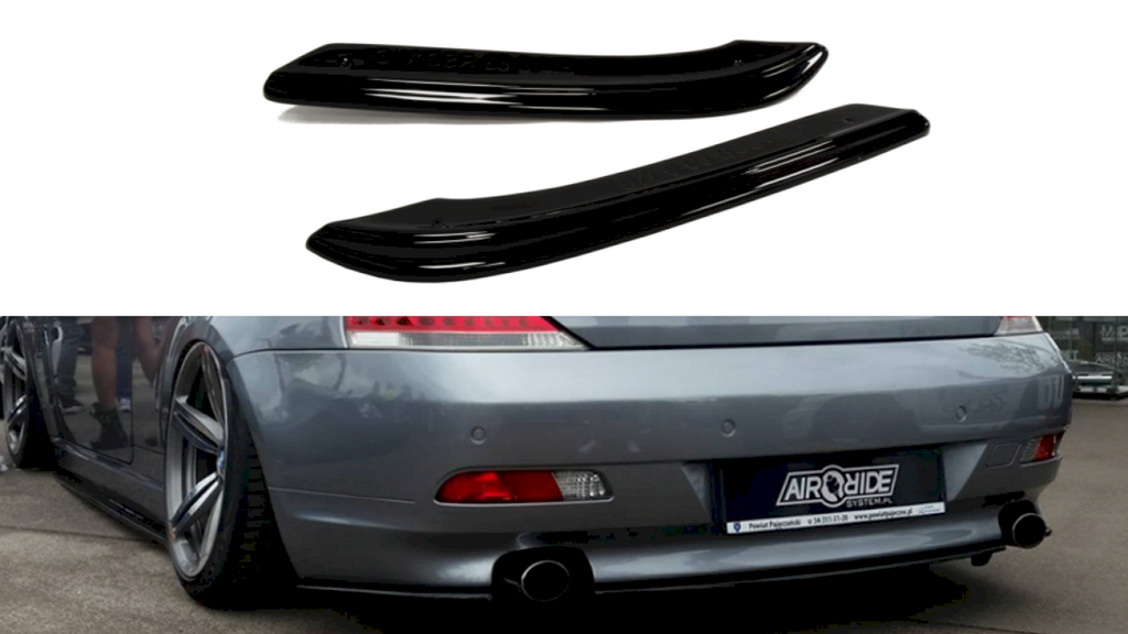 REAR SIDE SPLITTERS BMW 6 E63 / E64 (PREFACE MODEL)