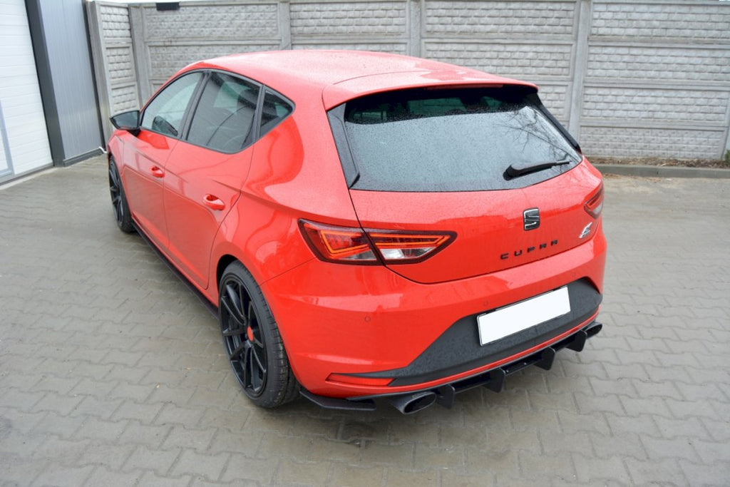 SEAT LEON III CUPRA REAR DIFFUSER & REAR SIDE SPLITTERS - Car Enhancements UK