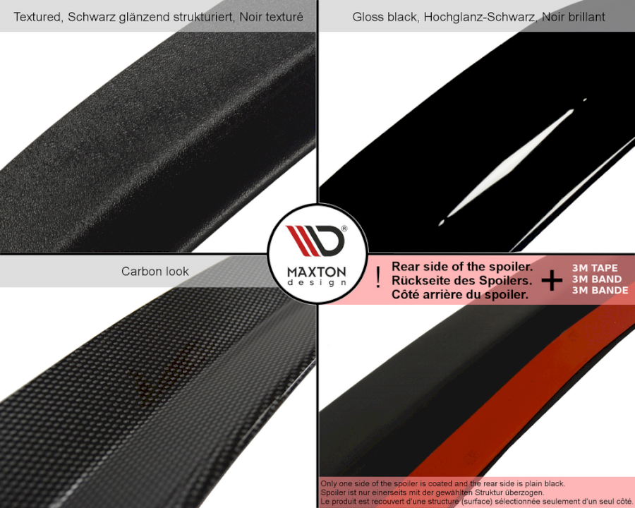 SPOILER EXTENSION AUDI TT MK3 (8S) RS (2016-UP) - Car Enhancements UK