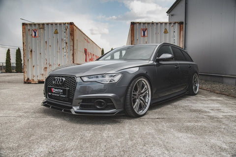 FRONT SPLITTER AUDI S6/ A6 S-LINE C7 FACELIFT - Car Enhancements UK