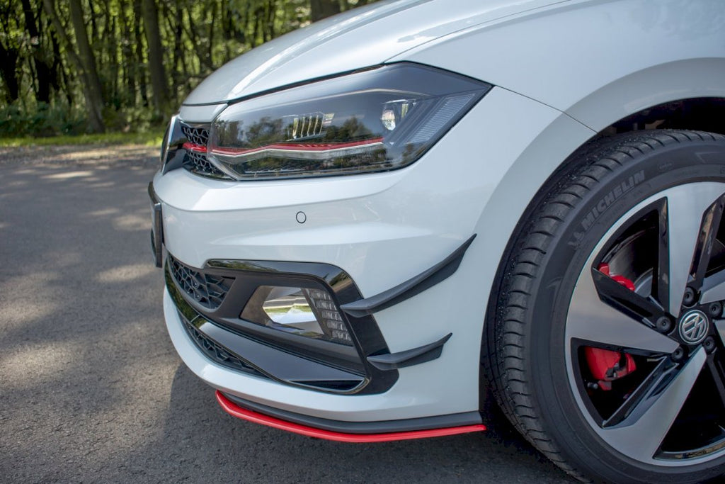 FRONT BUMPER WINGS (CANARDS) VW POLO MK6 GTI (2017-)