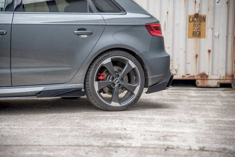 MAXTON RACING REAR SIDE SPLITTERS (+FLAPS) AUDI RS3 8V SPORTBACK (2015-2016) - Car Enhancements UK