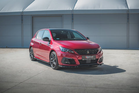 FRONT SPLITTER V2 PEUGEOT 308 GT MK2 FACELIFT (2017-) - Car Enhancements UK