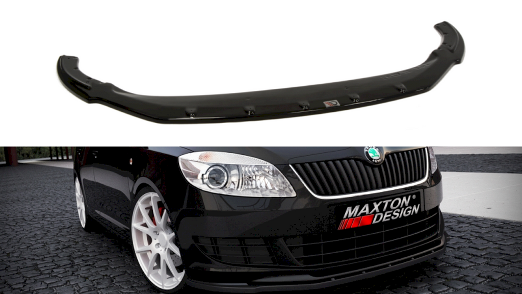 FRONT SPLITTER SKODA FABIA II FACELIF MODEL, STANDARD BUMPER - Car Enhancements UK