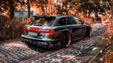 AUDI S6 C7 AVANT WIDE BODY + SET OF CARBON SPLITTERS - Car Enhancements UK