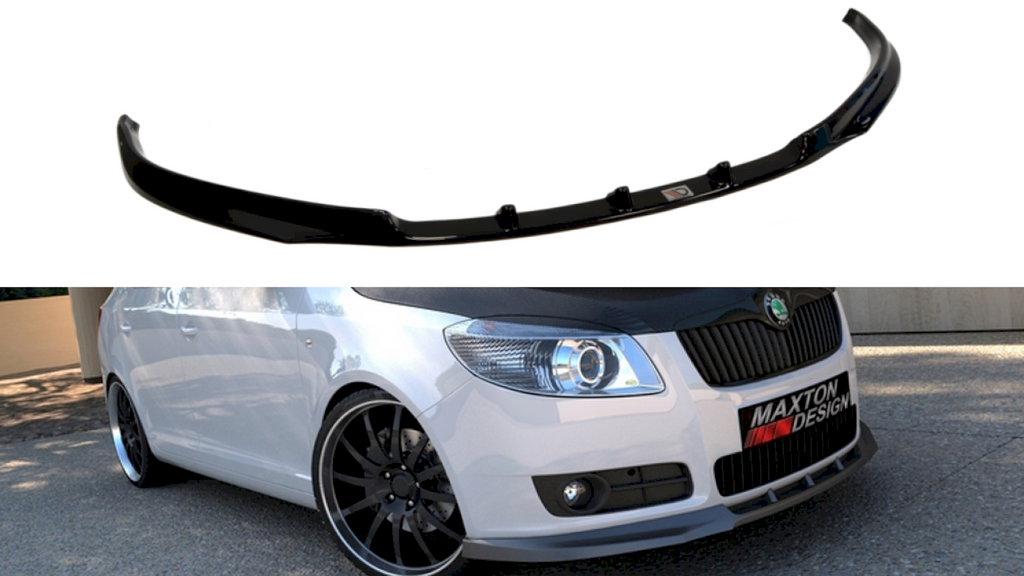 FRONT SPLITTER SKODA FABIA II (PREFACE MODEL, STANDARD BUMPER - Car Enhancements UK