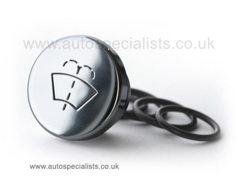 AutoSpecialists Large Round Washer Stopper with Logo - Car Enhancements UK