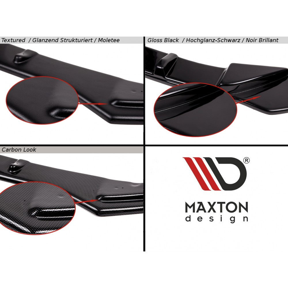 Maxton Design - Fiesta MK8 ST & STLine Front splitter V1 - Car Enhancements UK