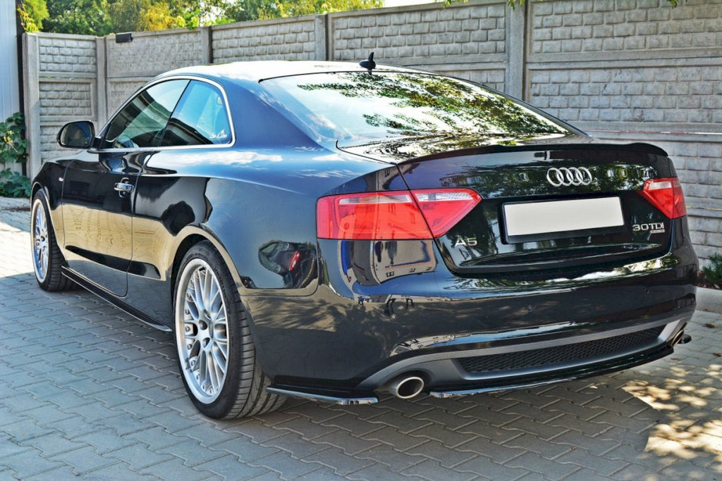 CENTRAL REAR SPLITTER AUDI A5 S-LINE 8T COUPE / SPORTBACK (WITHOUT A VERTICAL BAR)