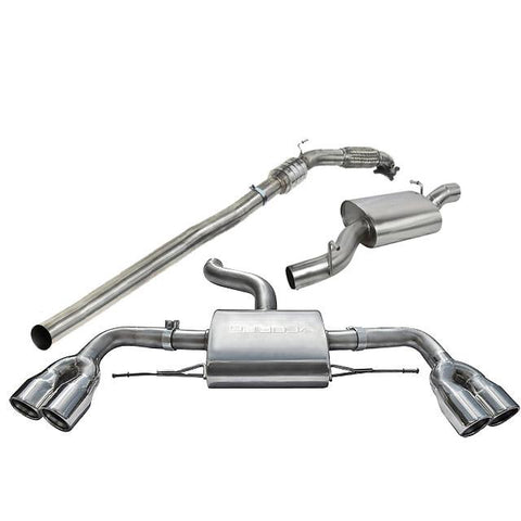 Audi TTS (Mk2) Quattro Turbo Back Performance Exhaust - Car Enhancements UK