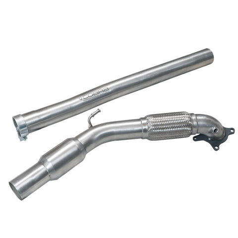 Audi TTS (Mk2) Quattro Front Downpipe Sports Cat / De-Cat Performance Exhaust - Car Enhancements UK