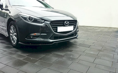 FRONT SPLITTER V.1 MAZDA 3 MK3 FACELIFT (2017-UP) - Car Enhancements UK