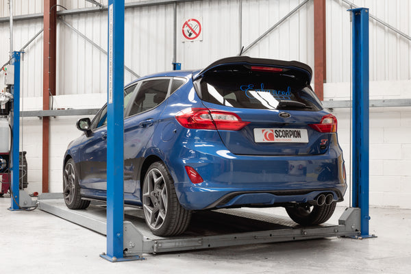 scorpion exhausts gpf back with valve mk8 fiesta st. Black Bedroom Furniture Sets. Home Design Ideas