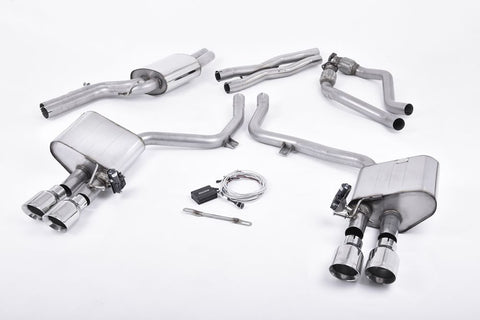 Milltek Sport Audi S5 3.0 TFSI B8.5 Sportback   ValveSonic Electronic Valved System. Titanium Tips - Car Enhancements UK