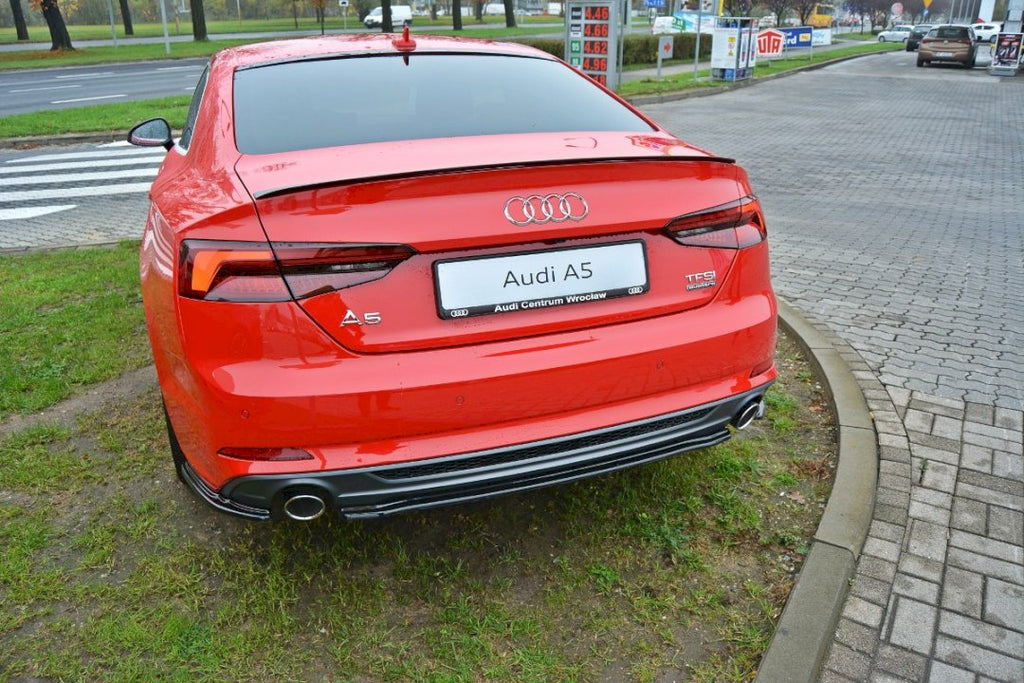 CENTRAL REAR SPLITTER AUDI A5 F5 S-LINE COUPE (WITHOUT A VERTICAL BAR) (2016 - UP)