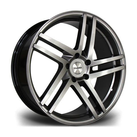 RIVIERA TWIST 20X9.5 5X120 38 74.1 CARBON GRIGIO - Car Enhancements UK