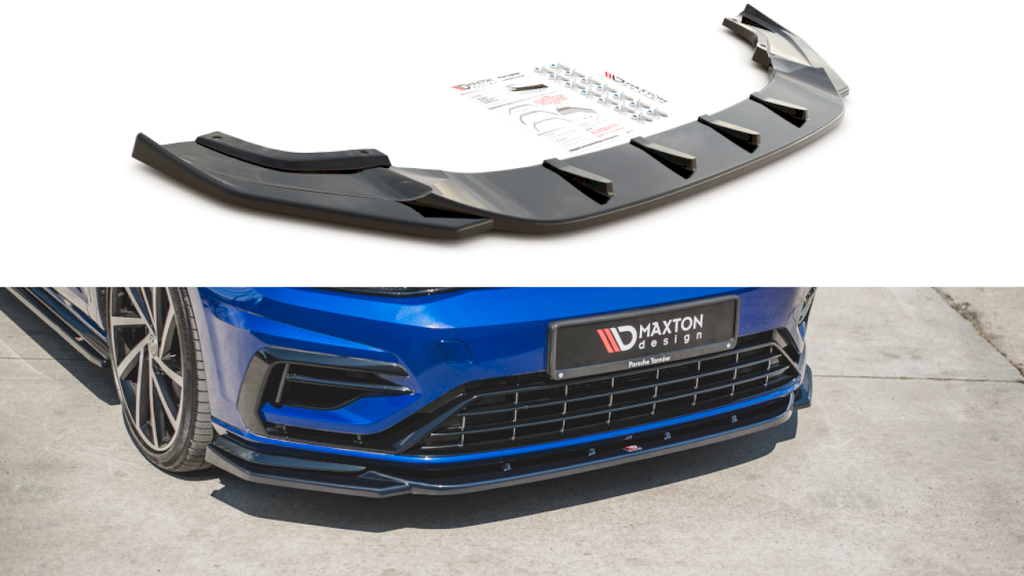 FRONT SPLITTER V.9 VW GOLF 7 R FACELIFT (2017-2020) - Car Enhancements UK