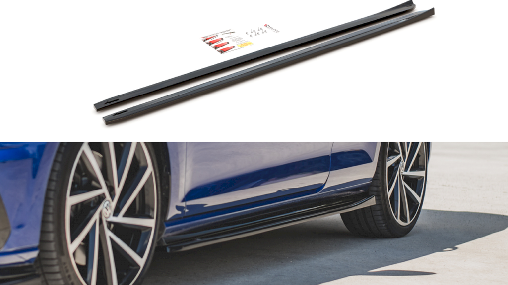 SIDE SKIRTS DIFFUSERS V.4 VW GOLF 7 R GTI FACELIFT (2017-2019) - Car Enhancements UK