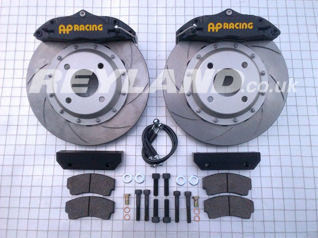 "AP Racing 4-Pot Caliper And 2-Piece 295x25mm AP Racing Disc Kit Track Plus 295 (Fits Inside Some 15"" Wheels) - Car Enhancements UK"