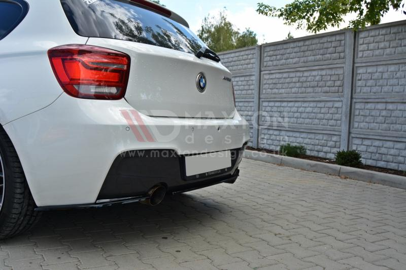 CENTRAL REAR SPLITTER BMW 1 F20/F21 M-POWER (WITHOUT VERTICAL BARS) - Car Enhancements UK